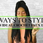 6 WAYS TO STYLE FAUX LOCS | INDIVIDUAL CROCHET HAIRSTYLES [Video]