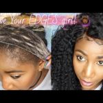 SAVE YOUR EDGES! How To Install Lace Frontals, NO SEW, NO GLUE, NO TAPE, NOTHING! [Video]