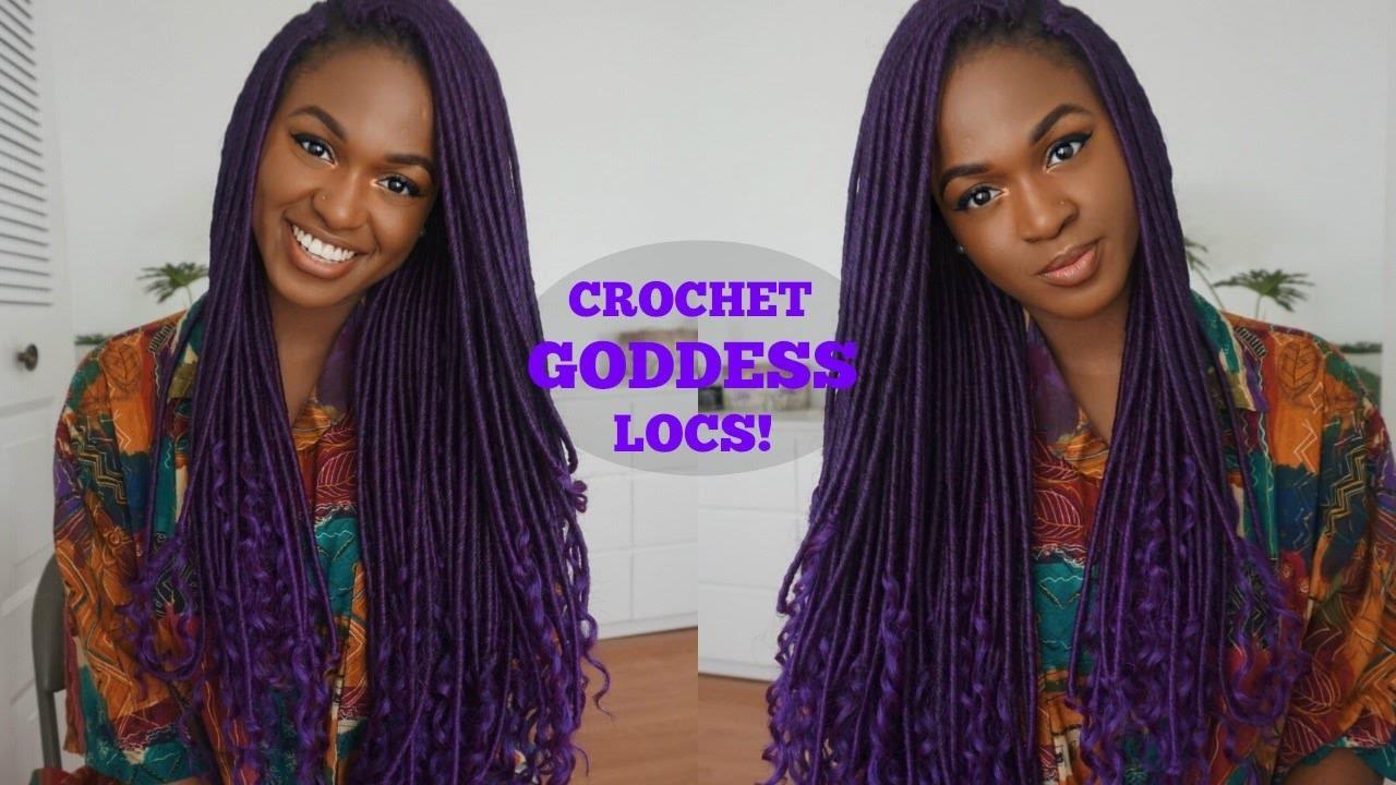 Crochet Purple Goddess Locs Quick Tutorial Video