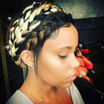Cute triple crown braid via @saddity_hair