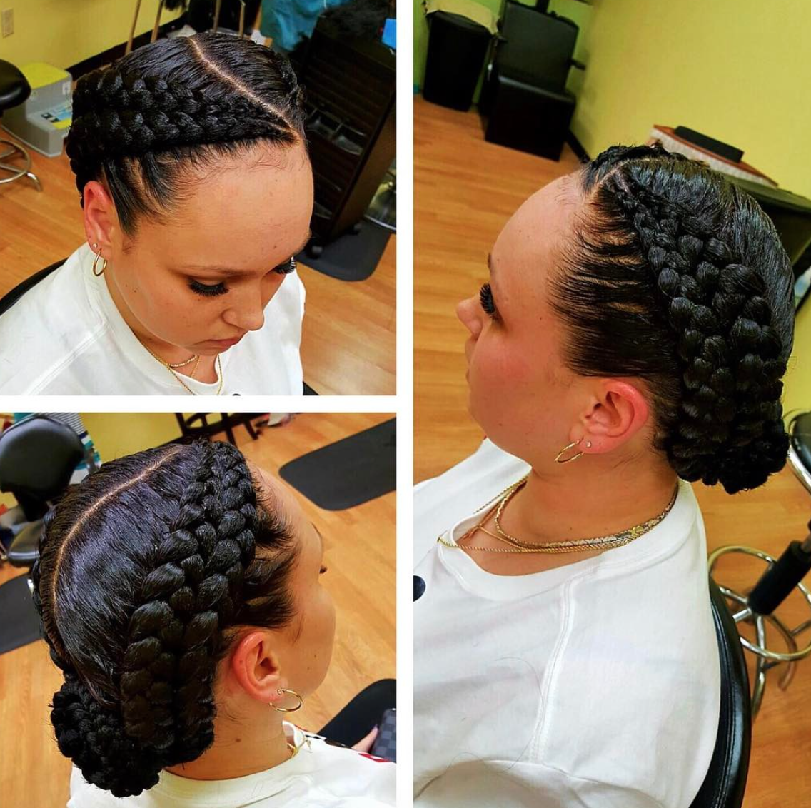 Love these double braids @gazagirl00 - Black Hair Information