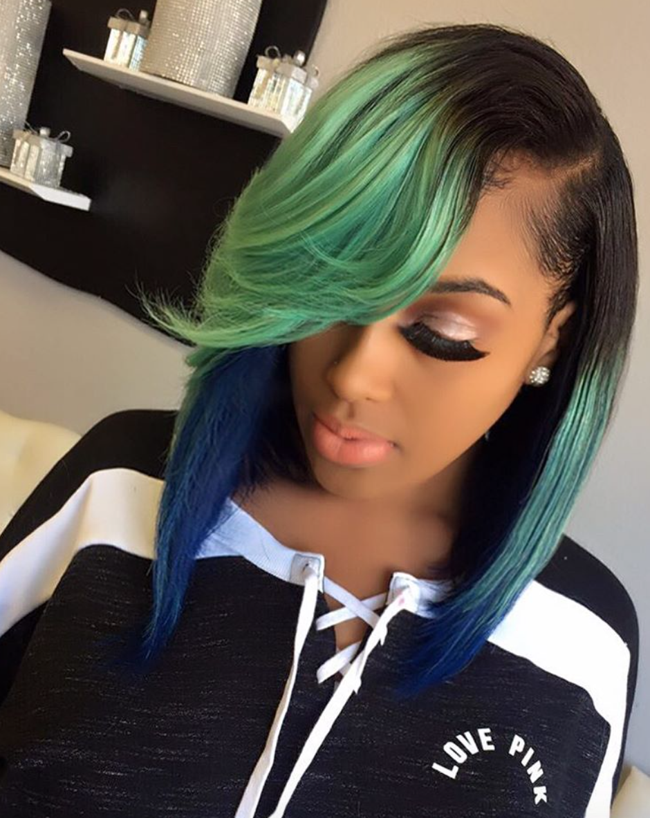 dope color combo via thehairicon black hair information