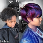 Wow! cut and color by @kthestylistb