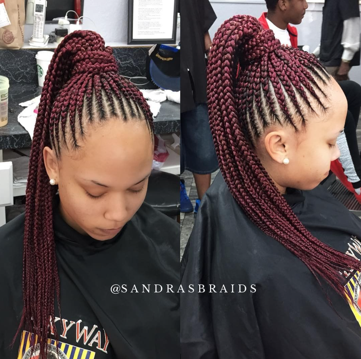Nice Braids By Sandrasbraids Black Hair Information