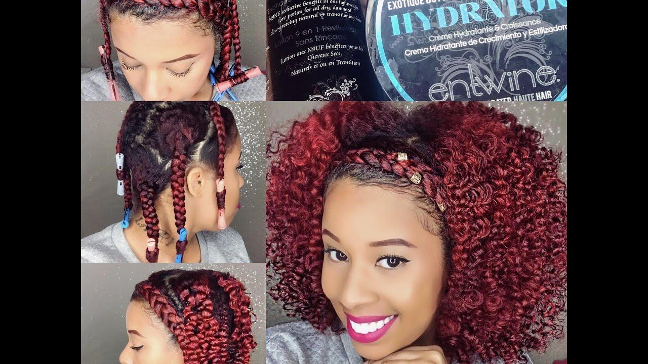 Braid Out On Natural Fine Hairbraid Headband Tutorial Black Hair
