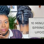 Five Twist Updo| 10 Minute Natural Hair Style [Video]