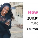 How To: Quick weave Half Up Ponytail [Video]