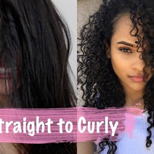 How to: Straight To Curly Routine (Zero Damage) [Video]