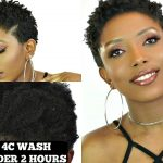 QUICKEST 4C WASH AND GO UNDER 2 HOURS| SHORT NATURAL HAIR TUTORIAL [Video]