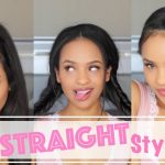 Simple/Casual Hairstyles For Straightened Natural Hair [Video]