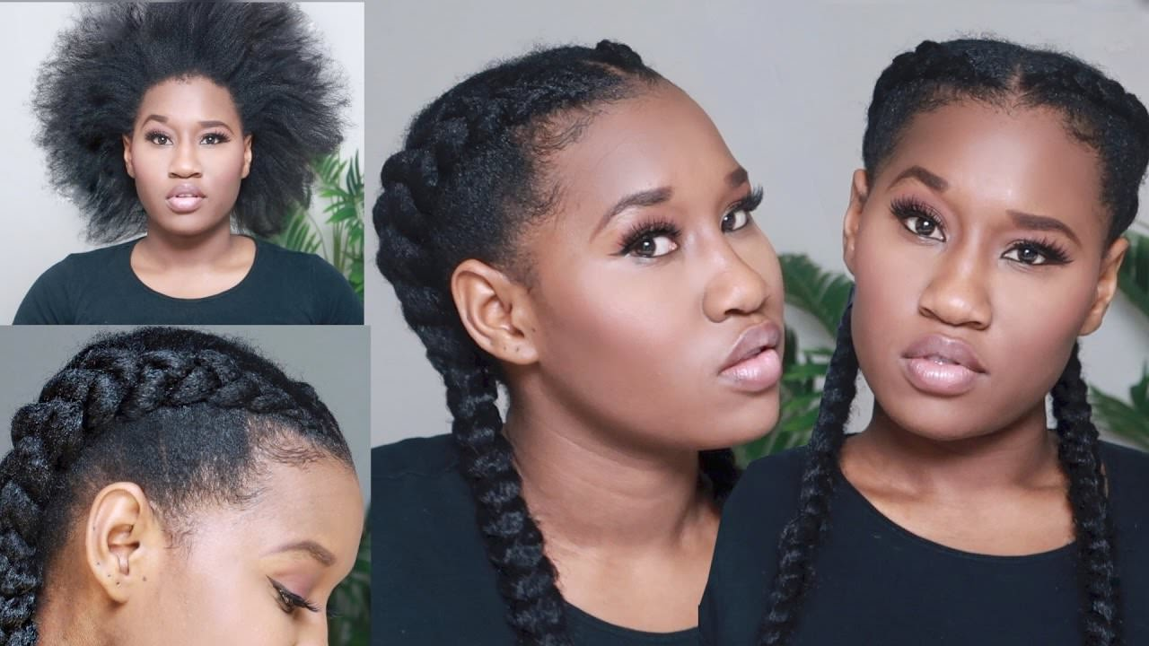Super Easy Crochet Feed In Braids On Short 4c Hair Video