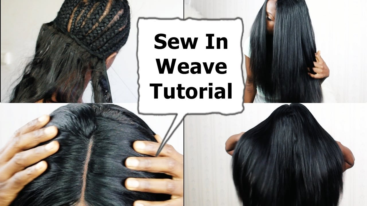 Watch Me Do Full Sew In Weave No Leave Out No Glue Tutorial