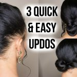 3 Quick & Easy Updo Hairstyles on Straightened Natural Hair [Video]