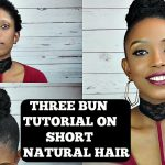 How To : High Bun With Marley Hair On Short Natural Hair Tutorial| 3 Styles [Video]