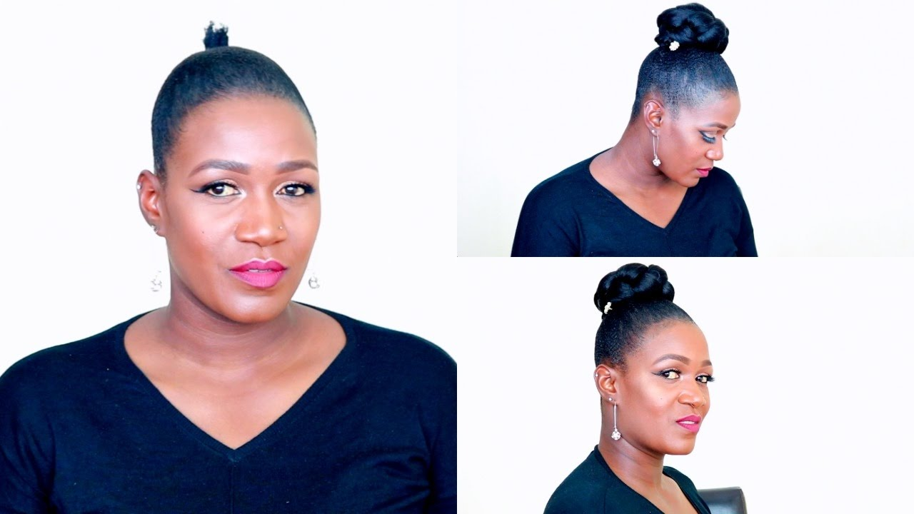 How To Sleek High Bun On Short Natural Hair Video