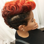Bold cut. Bold color. via @hairbylatise