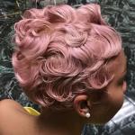 Bold pastel pink via @salonchristol