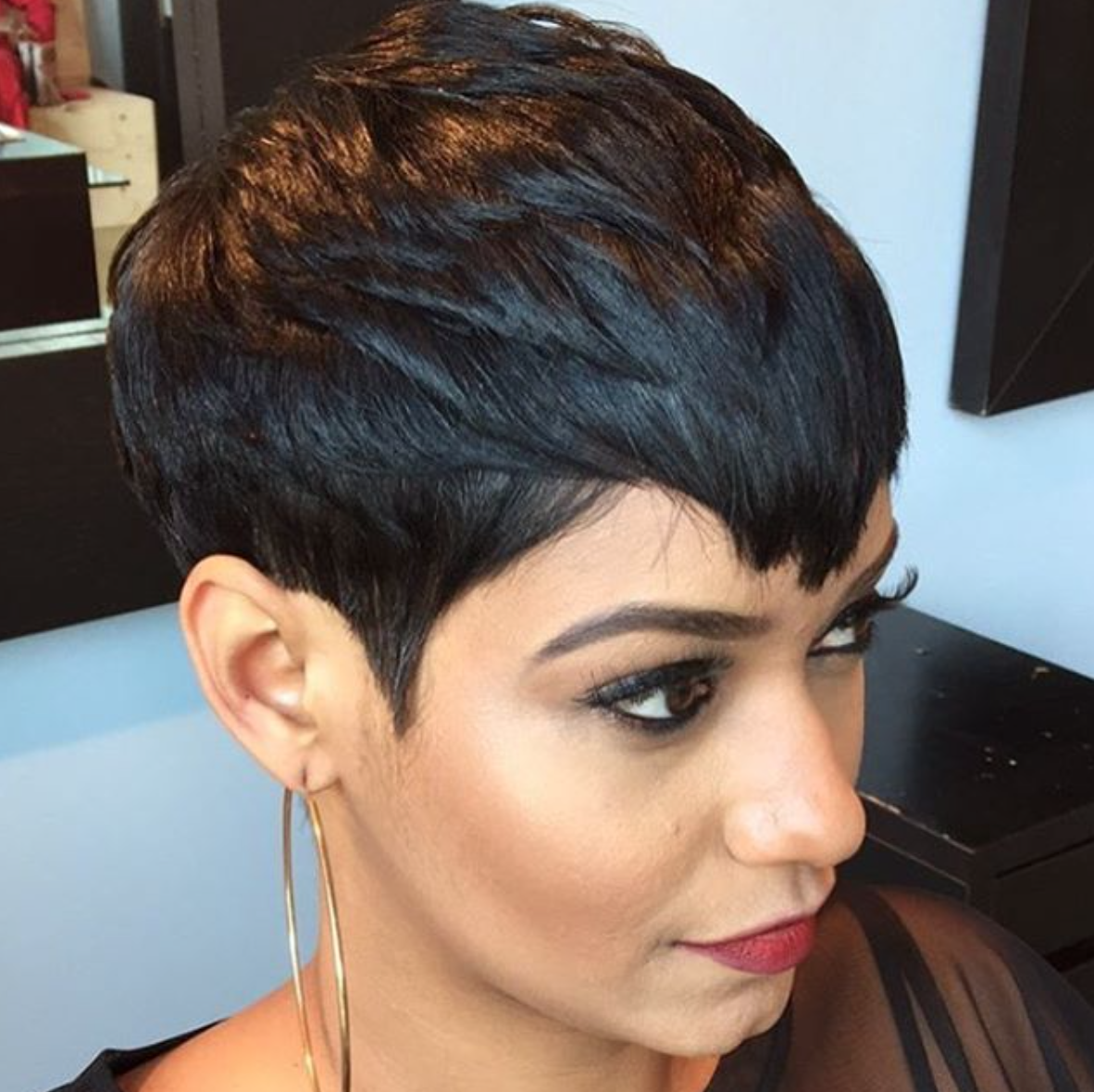 styles for black with hair flawless pixie via patricehector black hair information 7601
