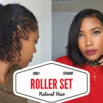 Curly to Straight On Natural Hair – Roller Set NO FLATIRONS [Video]