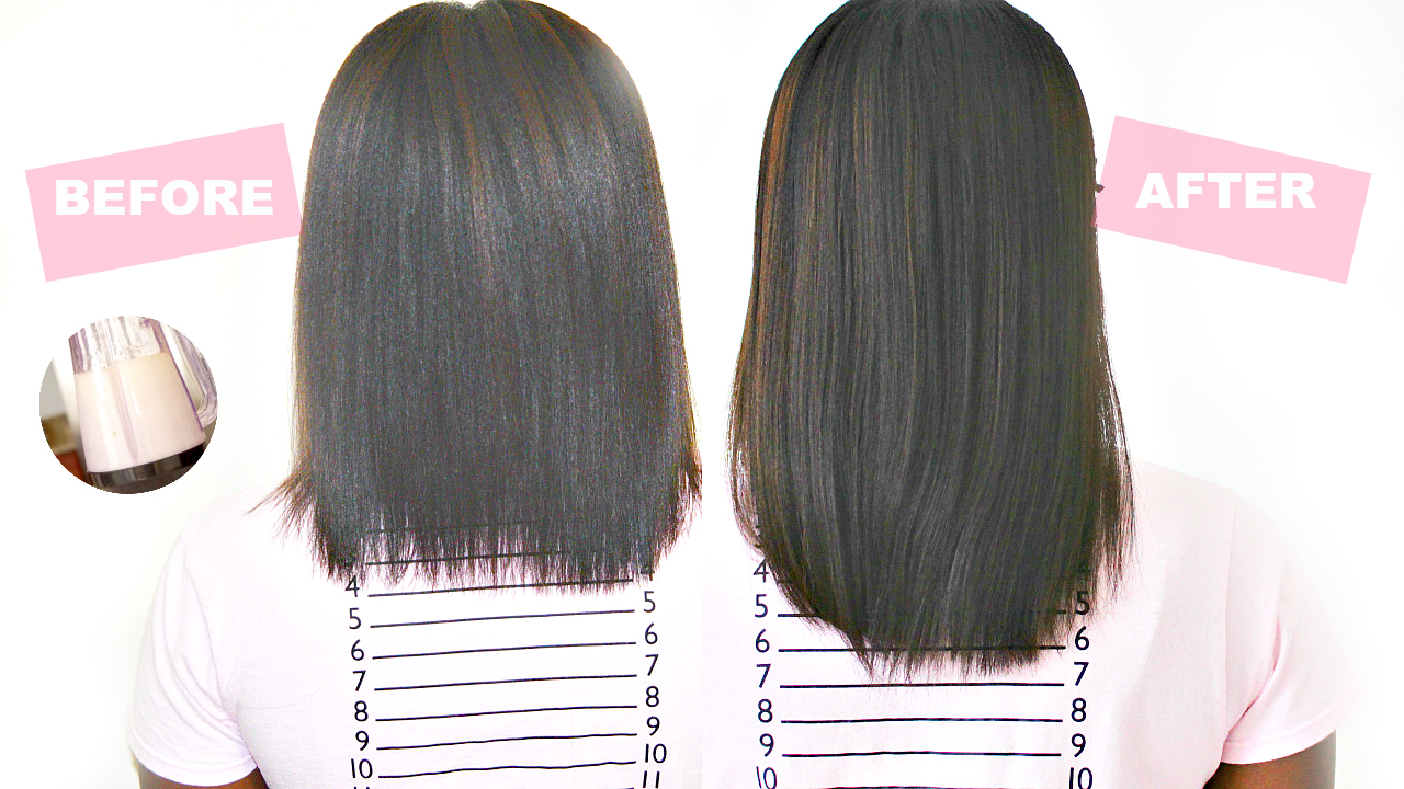 GROW your hair 2 inches in just 1 week - Easy DIY hair serum! - Black Hair Information