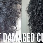 HEAT DAMAGED NATURAL HAIR | SIMPLE CURL ROUTINE [Video]