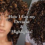 How I get my Devacut & Pintura/ Balayage Highlights on Curly Hair using Olaplex [Video]