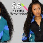 $5 Brazilian Curly Individual Crochet | No Plaits, Just Elastics