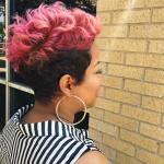 Bold pink pixie by @khimandi