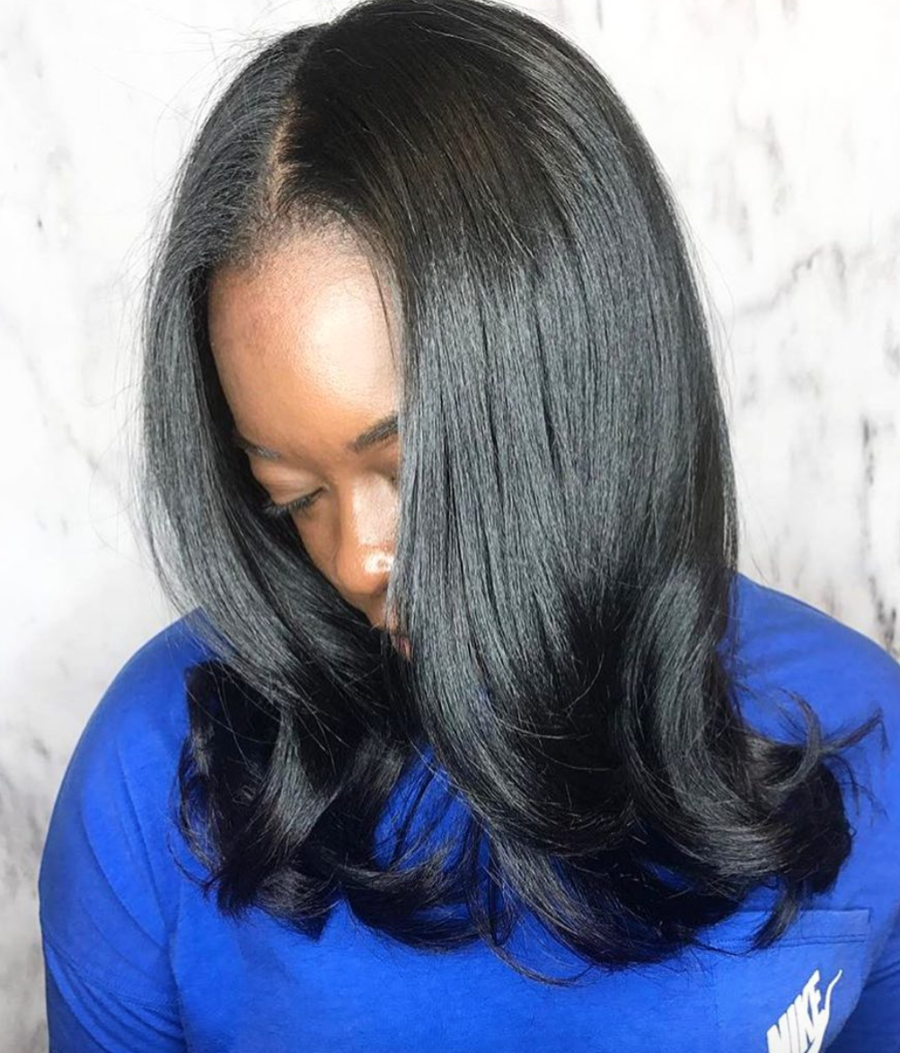 hair styles for damaged hair beautiful silk press by thehairkitchen black hair 9366