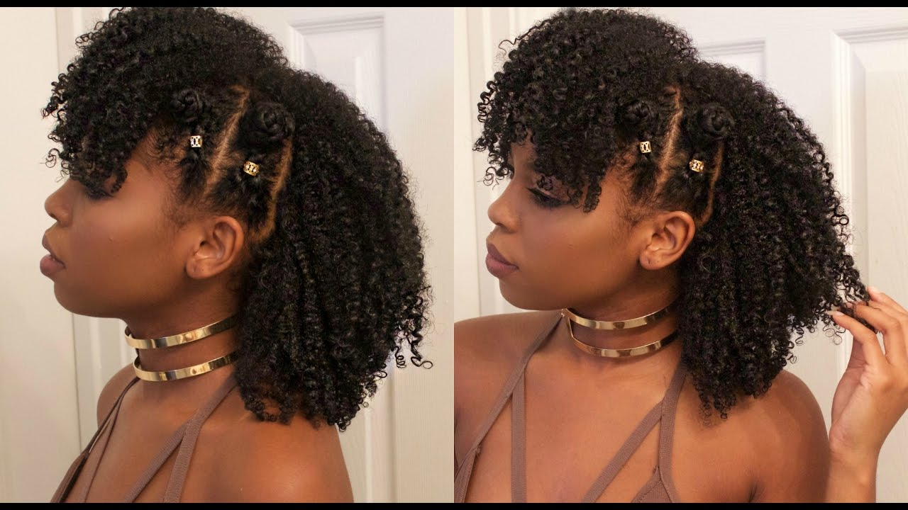 Braided Bantu Knot Mohawk Style On Natural Hair Ft Jane