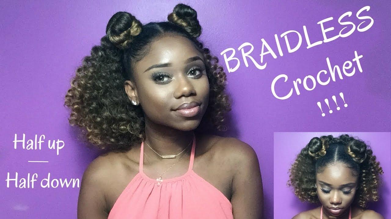 Braidless Crochet Half Up Half Down Jamaican
