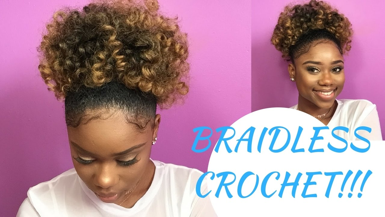braidless crochet high puff jamaican bounce crochet