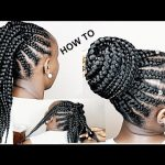 HOW TO CORNROWS FOR 4 BEGINNERS [Video]