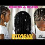 KIDS NATURAL HAIR STYLES | BRAIDS & BEADS TUTORIAL [Video]