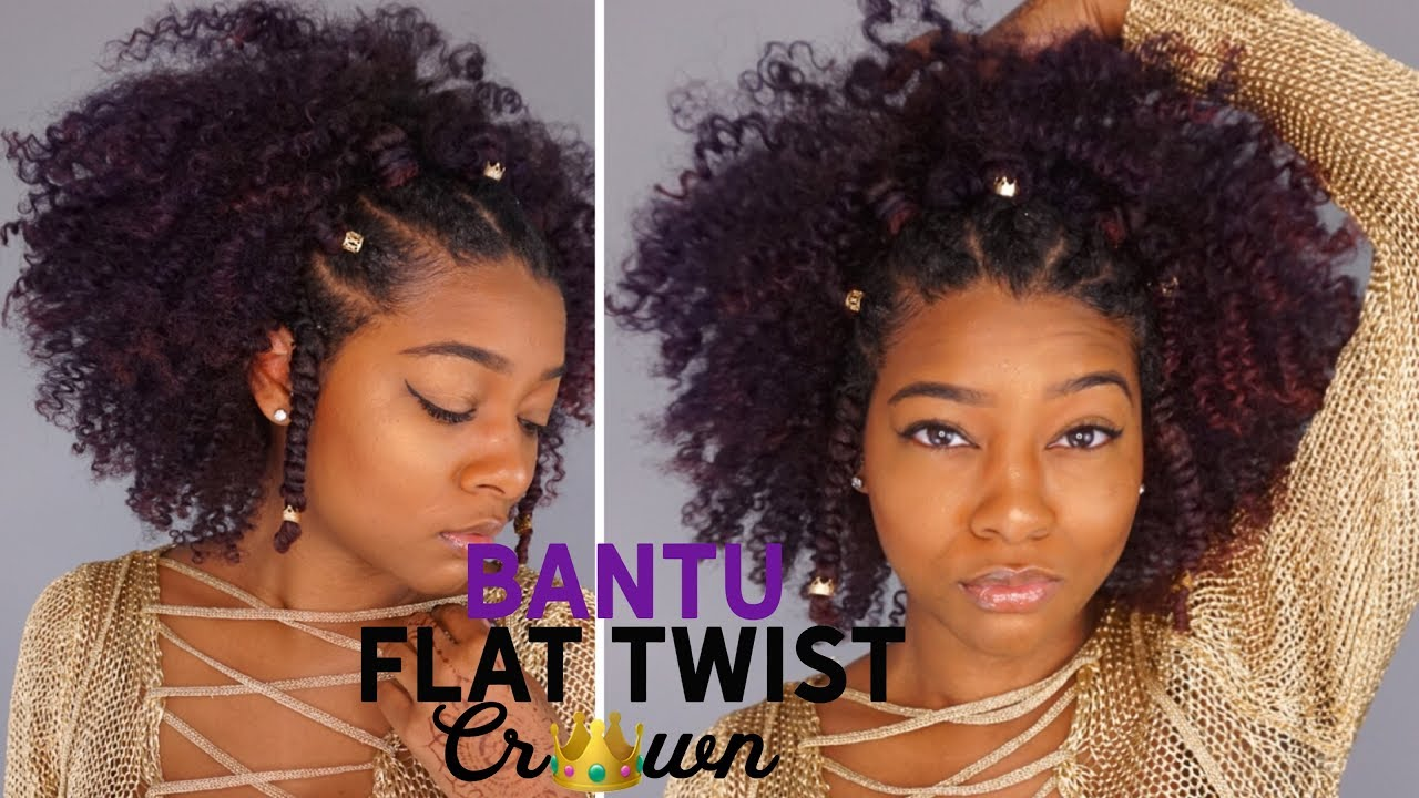 Natural Black Summer Hairstyles: Flat Twist Bantu Knot