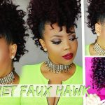 NO CORNROWS $17 BRAIDLESS CROCHET |CURLY CROCHET FAUX HAWK TUTORIAL 4C NATURAL HAIR STYLE [Video]