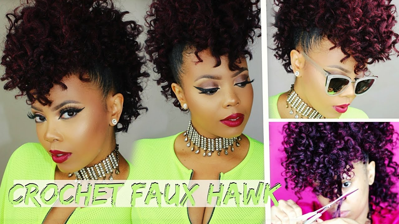 No Cornrows 17 Braidless Crochet Curly Crochet Faux Hawk