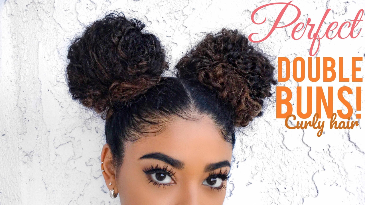 Perfect Double Buns Curly Hair Video Black Hair