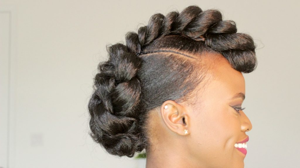 Braided Mohawk Style Updo Black Hair Information