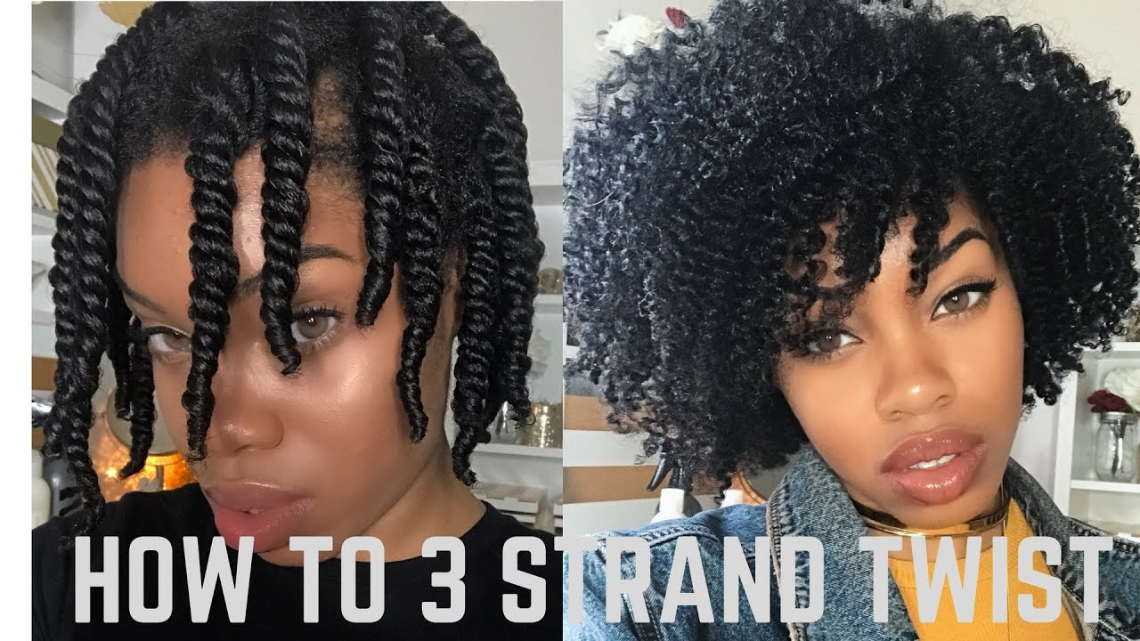 How to 3 Strand Twist Out DETAILED
