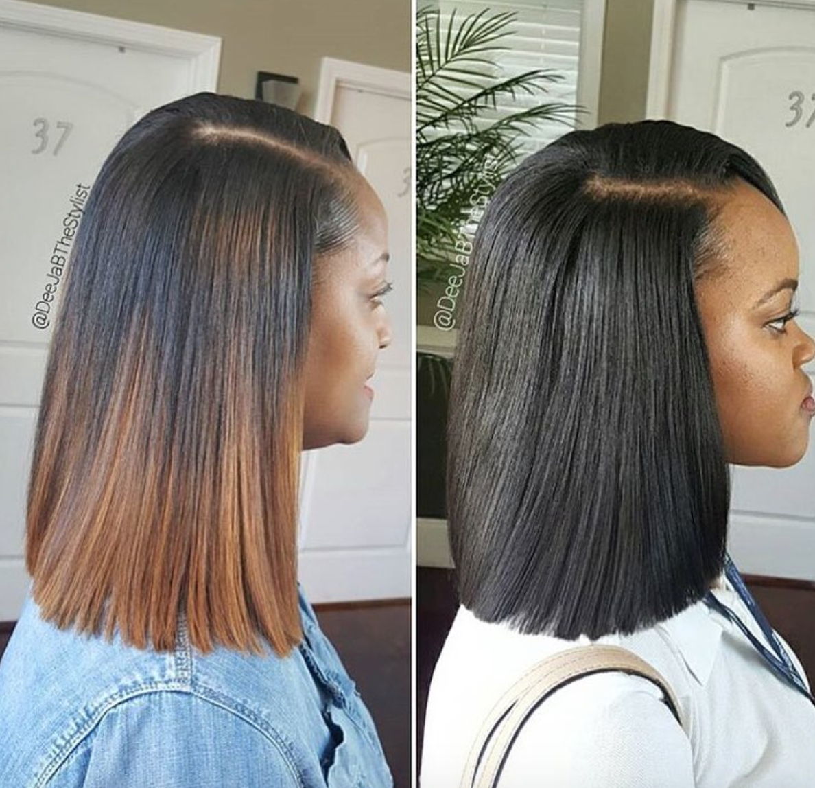 Amazing sew in vs quick weave by @deejabthestylist - Black