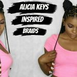 ALICIA KEYS / FULANI INSPIRED BRAIDS TUTORIAL [Video]