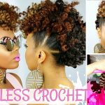 Braidless Crochet – No Cornrows – Curly Crochet Faux Hawk Tutorial – Natural Hair Undo [Video]