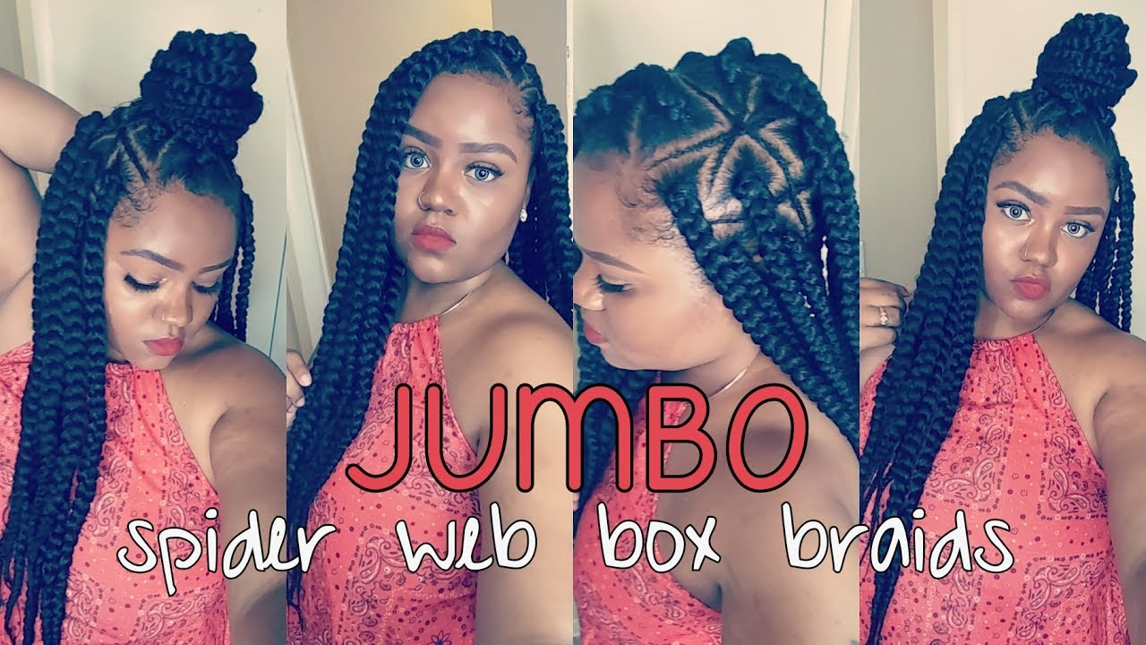 Diy Spider Web Jumbo Box Braids Video Black Hair