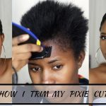 How I Cut, Relax & Style My Short Hair At Home|| Pixie Cut [Video]