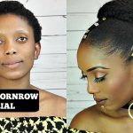 How To Do Bun With Cornrow Tutorial On Short 4C Natural Hair [Video]