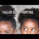 How To: Easy Fuller Ponytail Hair Tutorial for Curly Hair [Video]