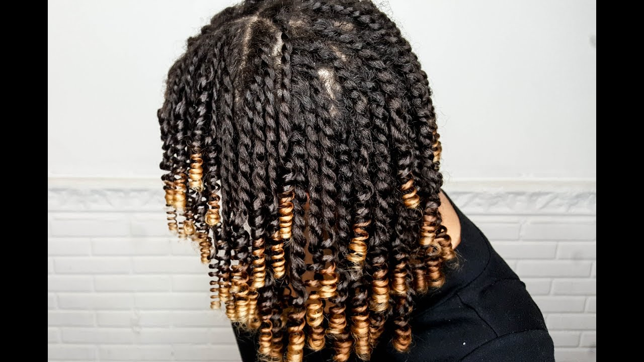 Mini Twist And Curl Quot Straw Set Quot On Natural Hair Video