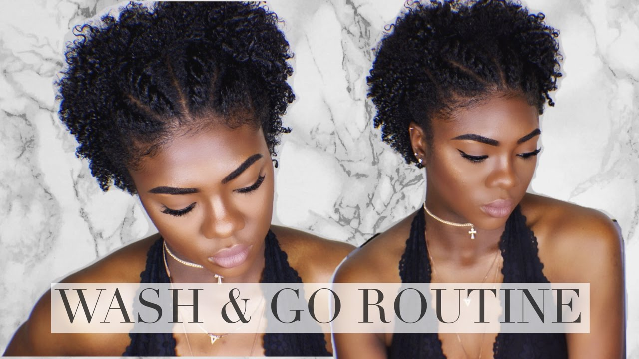 Natural Hair Defined Wash And Go Short Tapered Type 4 Hair