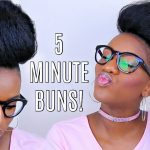 5 Bun Protective Styles on Short Natural Hair + Glasses! [Video]